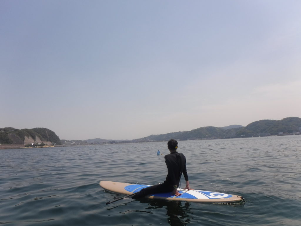 SUP(逗子海岸沖から)