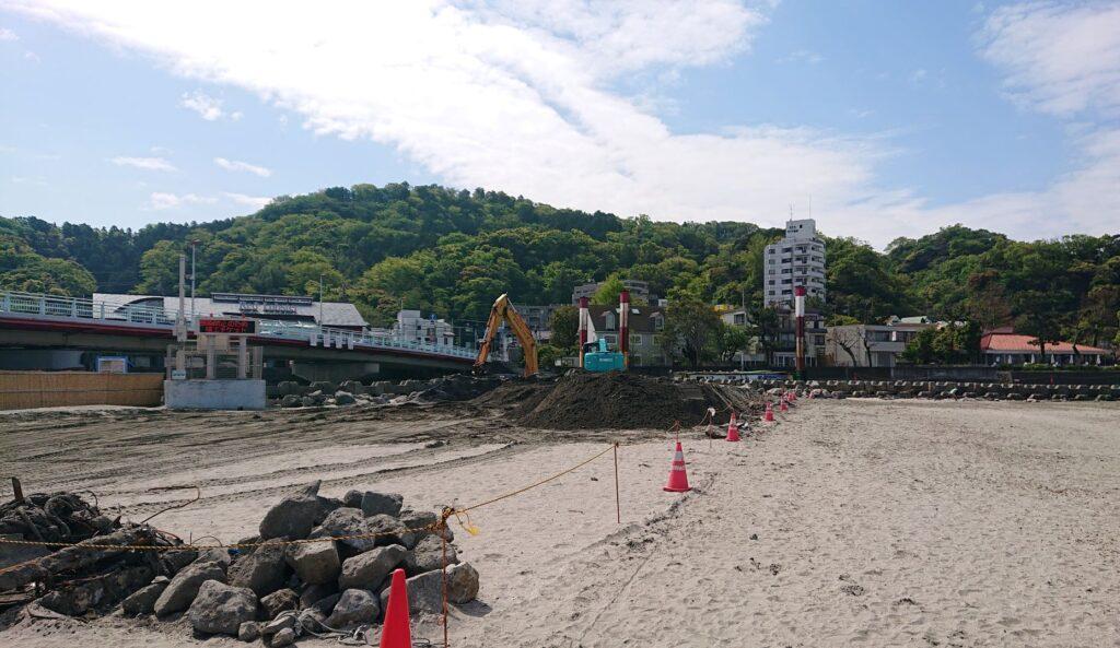 田越川 砂堀り / Zushi Beach (2021 April 16th)