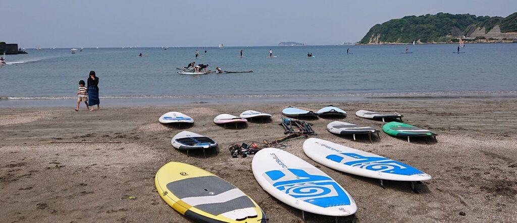 逗子海岸 東浜から江ノ島望む / Enoshima from Zushi Beach (2021 May 30th)