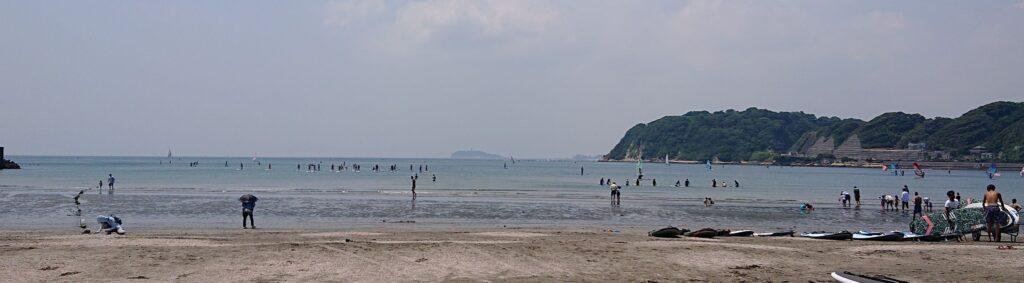 逗子海岸 東浜から江ノ島望む2 / Enoshima from Zushi Beach (2021 May 30th)