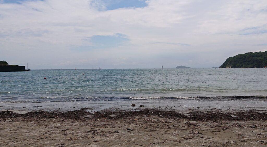 逗子海岸 東浜から江ノ島望む / Enoshima from Zushi Beach (2021 June 5th)