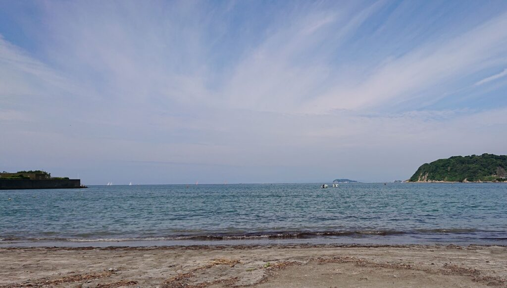 逗子海岸 東浜から江ノ島望む / Enohima from Zushi Beach  (2021 June 18th)