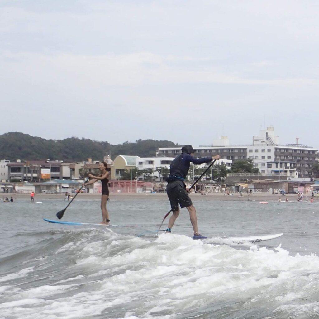 逗子 田越川河口付近でのSUPサーフィング(2021 Aug 25th)