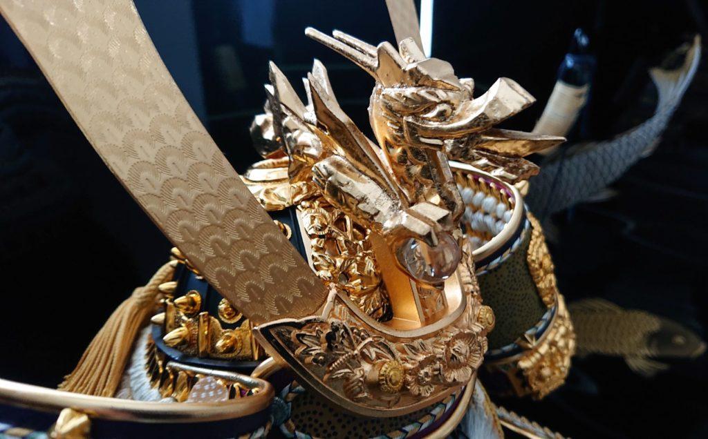 金箔龍木彫り Golden dragon wood caving