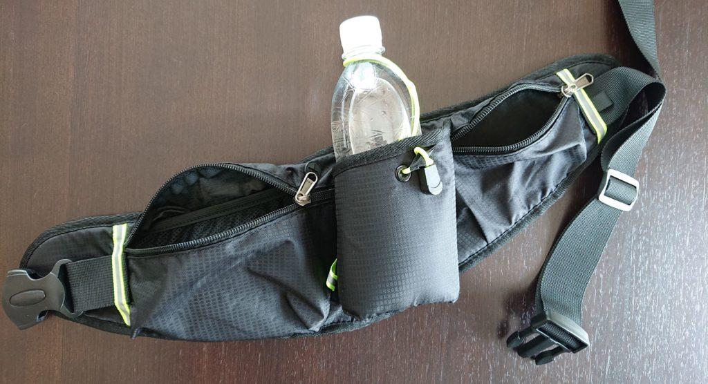 ウエストバッグ(4つのポケットとペットボトルホルダー)/ waist bag with 4  packets and a pet bottle holders
