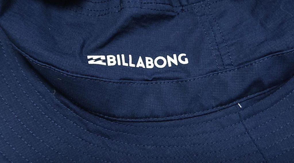 購入したサーフハット BILLABONGのロゴ