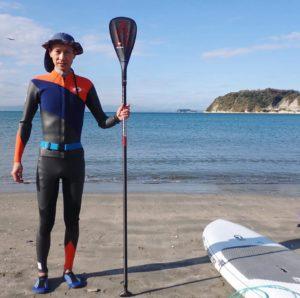 これから新しいウエットスーツで海に繰り出します。